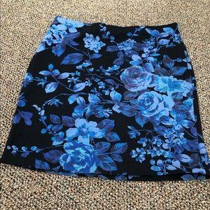 Black & Blue Express Rose Skirt